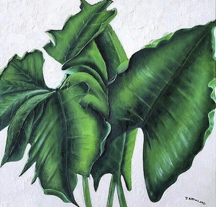 (CreativeWork) Foliage a Trois by Trace Knowland. Oil Paint. Shop online at Bluethumb.