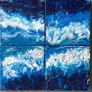 (CreativeWork) SkyWindSea by Kristen Riddell. acrylic-painting. Shop online at Bluethumb.