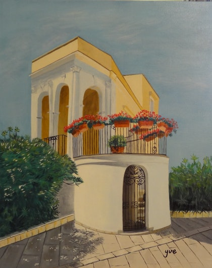 (CreativeWork) Izmir, Turkey by Evelyn James. arcylic-painting. Shop online at Bluethumb.