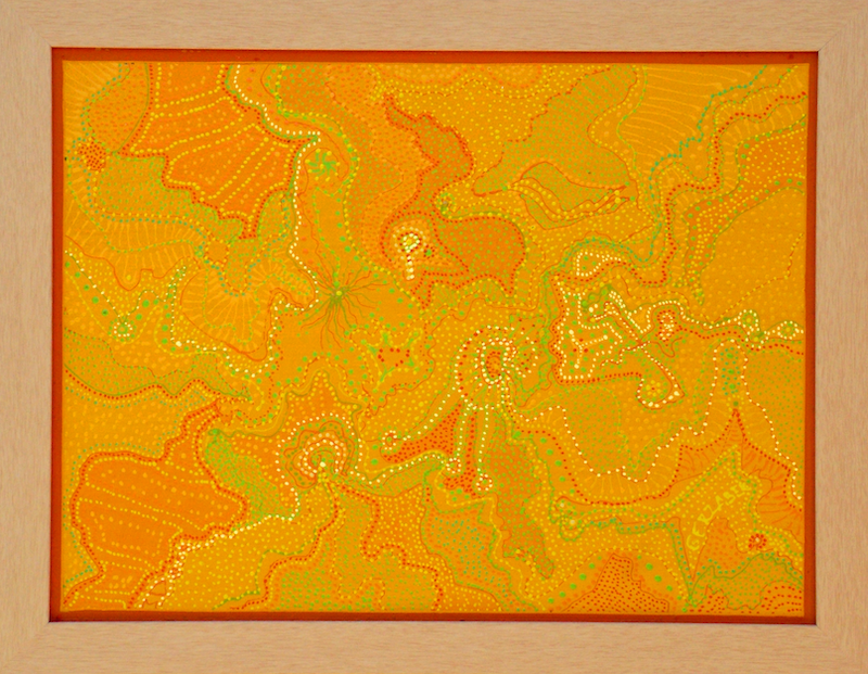 (CreativeWork) Tangerine  043 by Ernie Gerzabek. acrylic-painting. Shop online at Bluethumb.