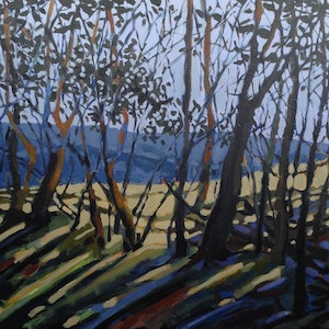 (CreativeWork) Late Afternoon Sunlight by Anne Fontaine. Acrylic Paint. Shop online at Bluethumb.