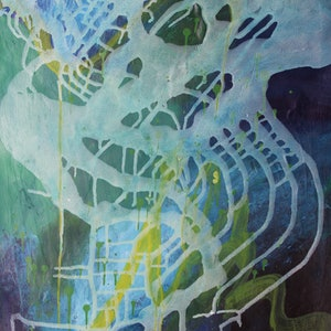 (CreativeWork) Blue Wave by Dianne Casotti. arcylic-painting. Shop online at Bluethumb.