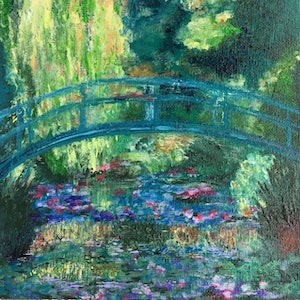 (CreativeWork) MONET BRIDGE MINI by April Lockwood. #<Filter:0x000055c6e4715d58>. Shop online at Bluethumb.