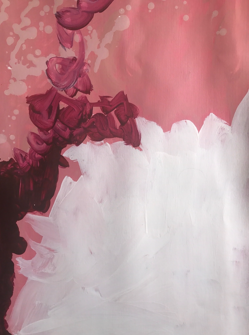 (CreativeWork) Pink 1 by Dianne Casotti. arcylic-painting. Shop online at Bluethumb.