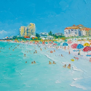 (CreativeWork) Clearwater Beach, Florida by Jan Matson. oil-painting. Shop online at Bluethumb.