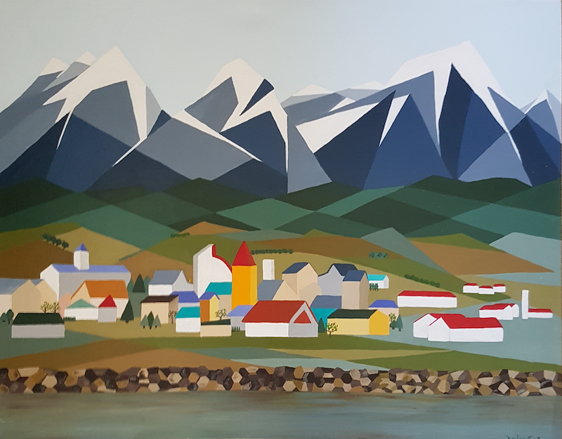 (CreativeWork) Ushuaia by Helen Saint-Smith. arcylic-painting. Shop online at Bluethumb.