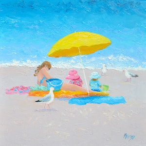 (CreativeWork) Sunny Days by Jan Matson. oil-painting. Shop online at Bluethumb.
