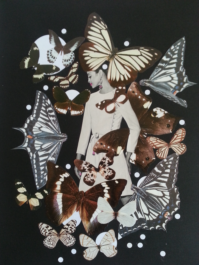 (CreativeWork) SALE Papillon  by Karen Coull. mixed-media. Shop online at Bluethumb.