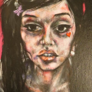 (CreativeWork) Amy by Monique Chantel. arcylic-painting. Shop online at Bluethumb.