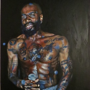 (CreativeWork) MC Ride by Monique Chantel. arcylic-painting. Shop online at Bluethumb.
