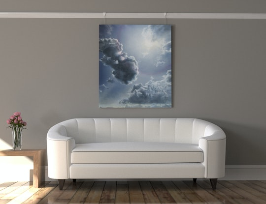 (CreativeWork) The Forgiving Sky by David Tracey. Acrylic Paint. Shop online at Bluethumb.