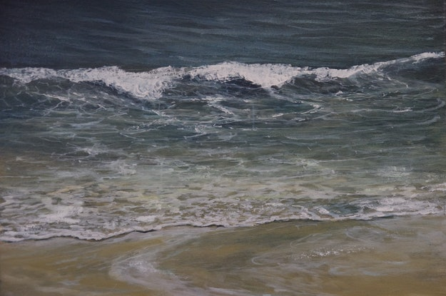 (CreativeWork) Shoreline.  by GEOFF WINCKLE. Oil Paint. Shop online at Bluethumb.