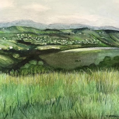 (CreativeWork) North, Towards Bangalow by Tracey Knowland. Watercolour Paint. Shop online at Bluethumb.