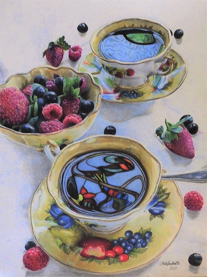 Tea with Stain-glass Reflection