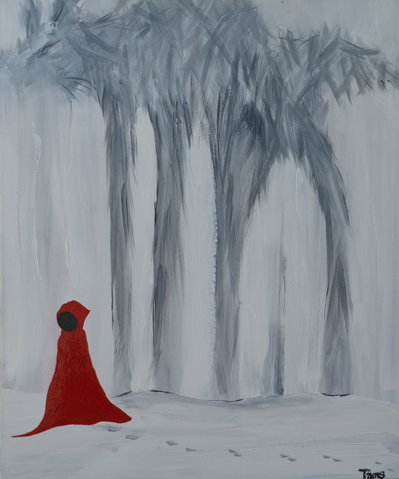 (CreativeWork) Wolf Canopy by Tanya Smith. arcylic-painting. Shop online at Bluethumb.