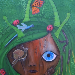 (CreativeWork) Insected by Tanya Smith. arcylic-painting. Shop online at Bluethumb.