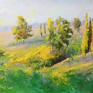 (CreativeWork) Old South Road Mittagong NSW by Mirjana Psakis. oil-painting. Shop online at Bluethumb.