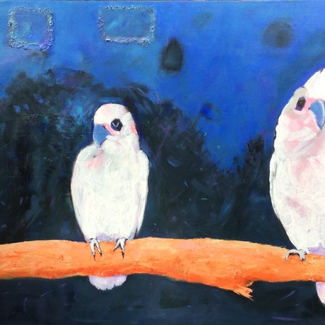 (CreativeWork) The Three Amigos by Paola Ditel. Acrylic Paint. Shop online at Bluethumb.