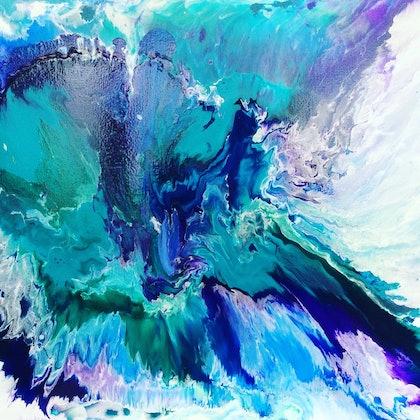 (CreativeWork) Tide Surge by Paddy Colahan. arcylic-painting. Shop online at Bluethumb.