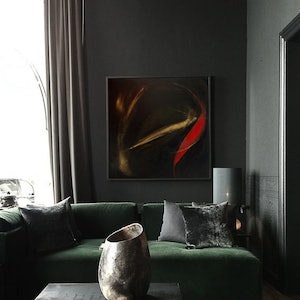(CreativeWork) Stygian Flux by Indy Wilson. arcylic-painting. Shop online at Bluethumb.