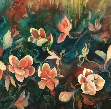 (CreativeWork) Old World Charm by Cathy Gilday. Acrylic Paint. Shop online at Bluethumb.