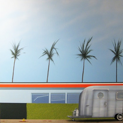 (CreativeWork) INCIDENT ON PALM CANYON DRIVE by RODDY KERR. arcylic-painting. Shop online at Bluethumb.