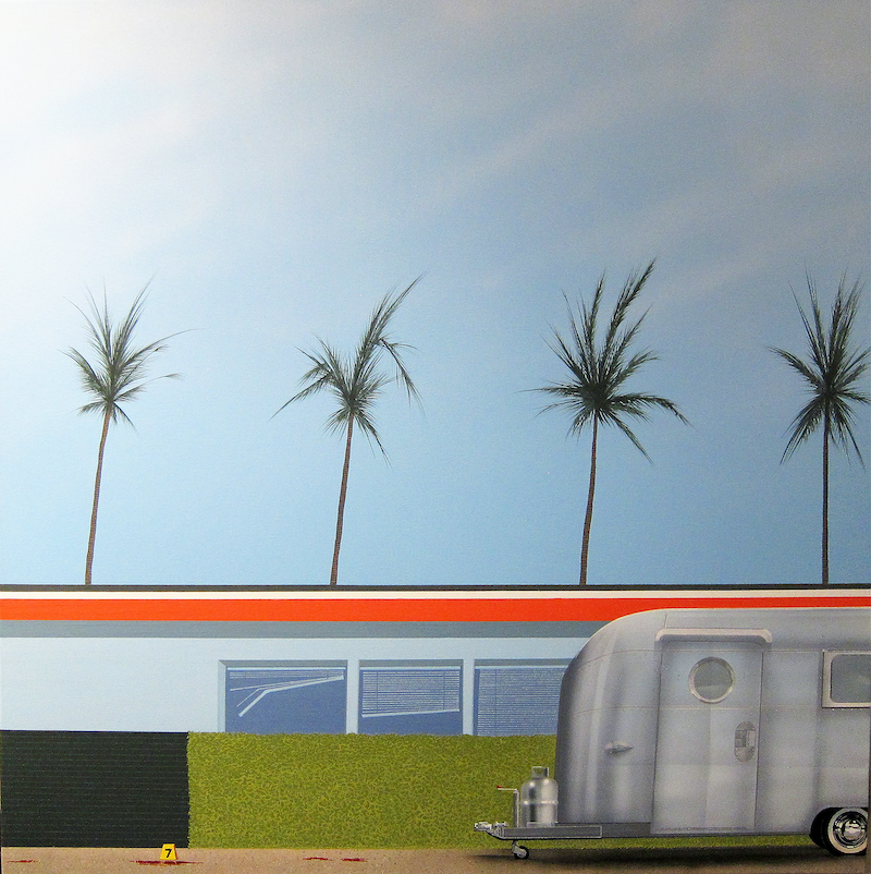 (CreativeWork) INCIDENT ON PALM CANYON DRIVE by RODDY KERR. Acrylic Paint. Shop online at Bluethumb.