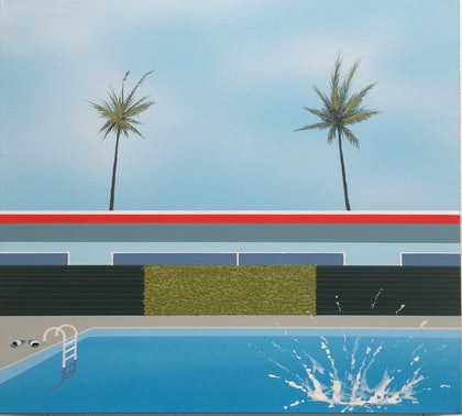 (CreativeWork) HIT THE WATER by RODDY KERR. arcylic-painting. Shop online at Bluethumb.