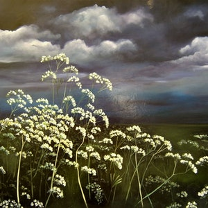 (CreativeWork) Little Blossoms by Lucinda Leveille. oil-painting. Shop online at Bluethumb.