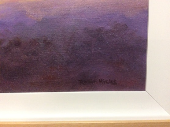 (CreativeWork) Beyond the dark by Robin Hicks. Oil Paint. Shop online at Bluethumb.