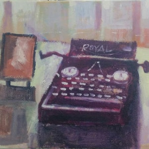 (CreativeWork) A Love Letter to  Typewriter by Gennady Veremeenko. acrylic-painting. Shop online at Bluethumb.