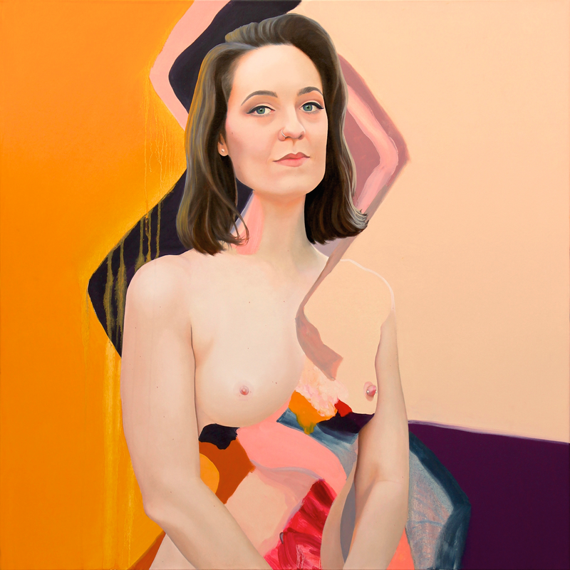 (CreativeWork) Sally Rugg by Kim Leutwyler. oil-painting. Shop online at Bluethumb.