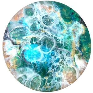 (CreativeWork) Dipping amongst the rock pool original resin art  by Trudy Lowndes. resin. Shop online at Bluethumb.