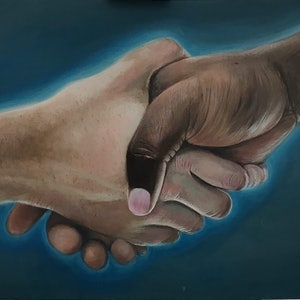 (CreativeWork) Equality  by Renee O'Brien. oil-painting. Shop online at Bluethumb.