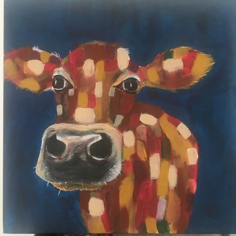 (CreativeWork) Chloe  by Rose Goodwin. Acrylic Paint. Shop online at Bluethumb.