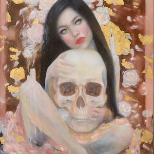 (CreativeWork) Death of her Innocence (framed) (STUDIO CLEARANCE SALE) by Michelle Angelique. mixed-media. Shop online at Bluethumb.