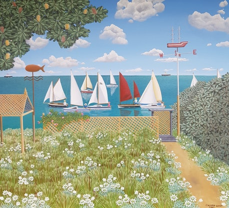 (CreativeWork) We are Sailing by Gillian Lodge. #<Filter:0x00007fd04864d0c8>. Shop online at Bluethumb.