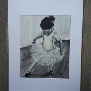 (CreativeWork) Ballerina by Maria Kapodistrias. arcylic-painting. Shop online at Bluethumb.
