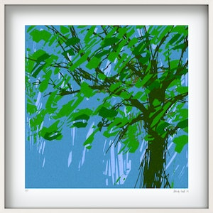 (CreativeWork) 'JANICE TREE' Limited Edition Giclee Print on paper in 52.5cm white shadow box frame. Ed. 1 of 25 by George Hall. print. Shop online at Bluethumb.
