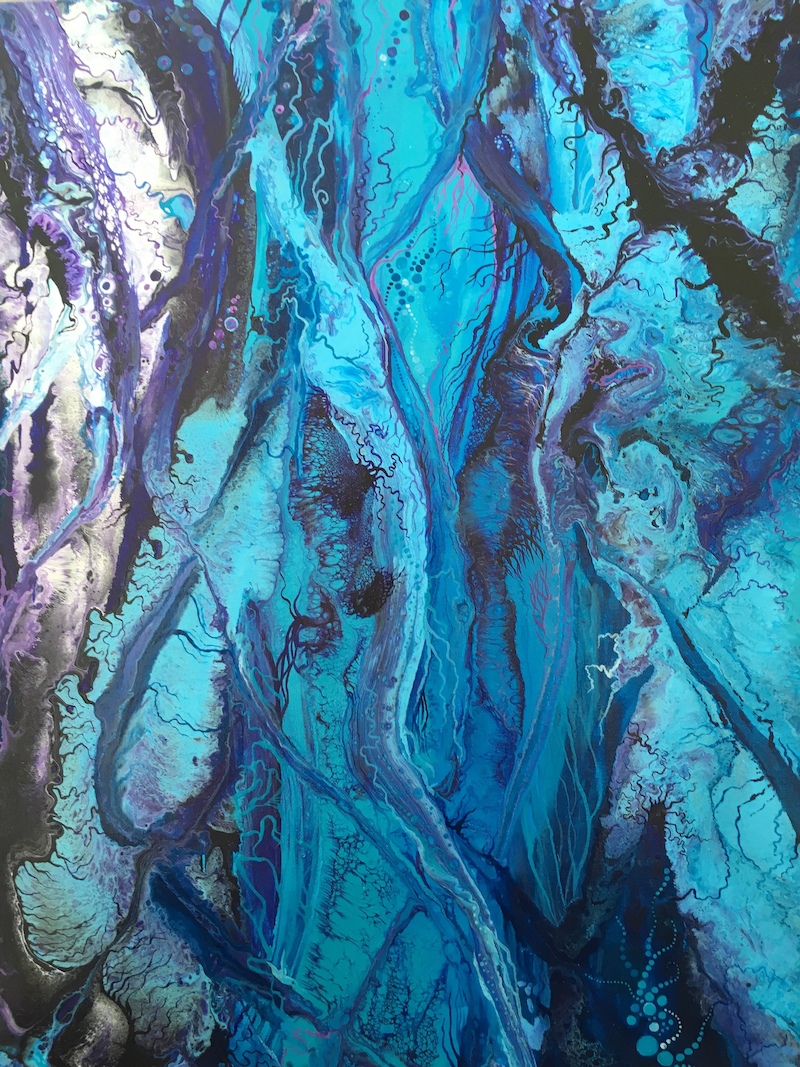 (CreativeWork) Tangled by Kristen Riddell. arcylic-painting. Shop online at Bluethumb.