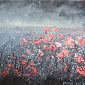 (CreativeWork) FLOWER DRIFTS. by Elena Dickman. arcylic-painting. Shop online at Bluethumb.