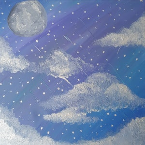 (CreativeWork) Stargaze by Jessica Geddes. oil-painting. Shop online at Bluethumb.