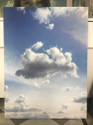 (CreativeWork) Sculptural Sky by David Tracey. Acrylic Paint. Shop online at Bluethumb.