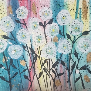 (CreativeWork) Rainbow Garden - Sale Reduced Price by Dina Tayeh. mixed-media. Shop online at Bluethumb.