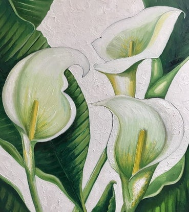 (CreativeWork) Exuberant Arum by Tracey Knowland. Oil Paint. Shop online at Bluethumb.