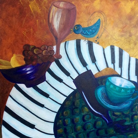 (CreativeWork) MY Kinda Weekend by Barbara Hardy. Oil Paint. Shop online at Bluethumb.