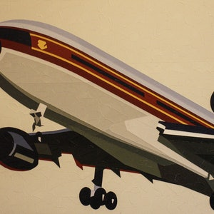 (CreativeWork) Jet by Colin Madgwick. oil-painting. Shop online at Bluethumb.