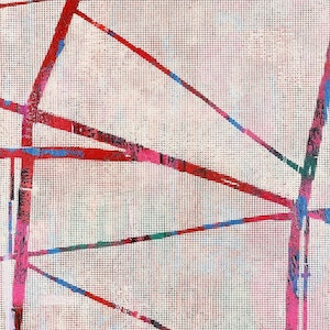 (CreativeWork) Straight Line by Robyn Burgess. oil-painting. Shop online at Bluethumb.