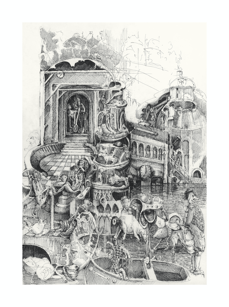 (CreativeWork) Bosch and the Backyard Ed. 7 of 10 by Patrick Perlstone. Print. Shop online at Bluethumb.