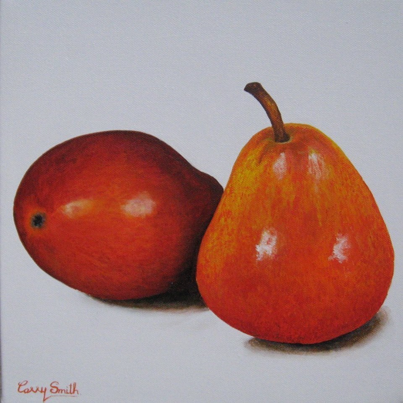 (CreativeWork) 2 Bartletts  by Carry Smith. arcylic-painting. Shop online at Bluethumb.